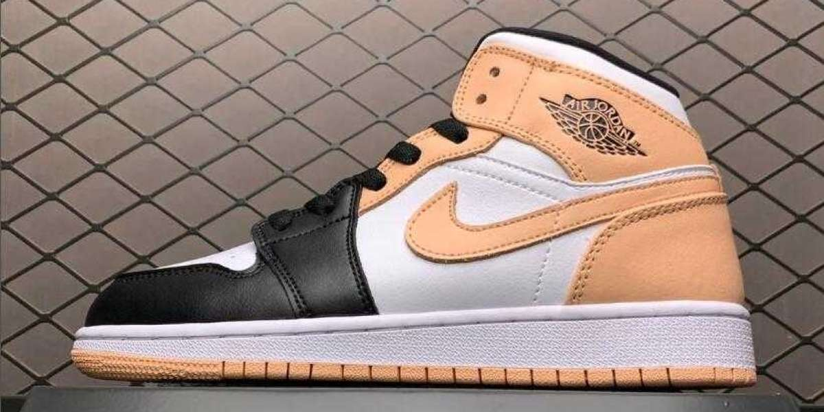 "Cheap Air Jordan 1 Mid ""Crimson Tint"" 554724-133"