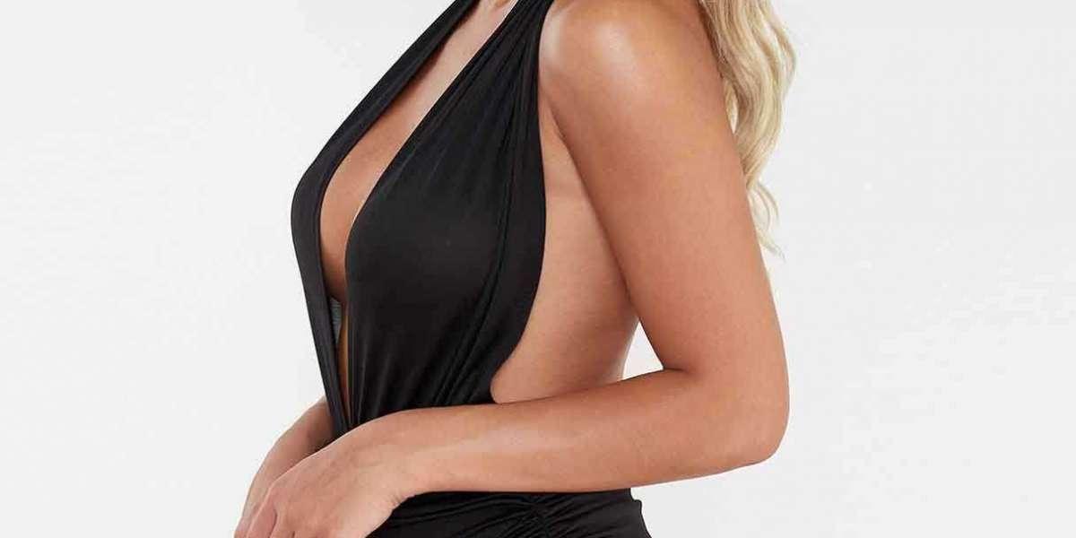 Deep V Neck Sleeveless Backless One-Pieces Swimwears