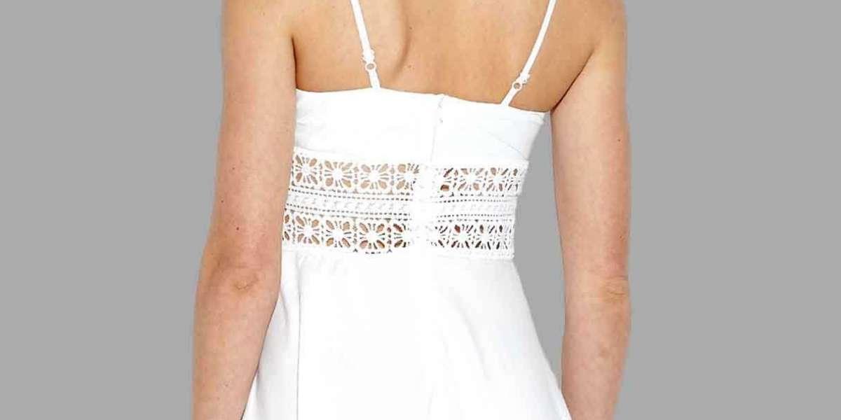 White Halter Grid Cut Out Spaghetti Strap Self-Tie Bikinis