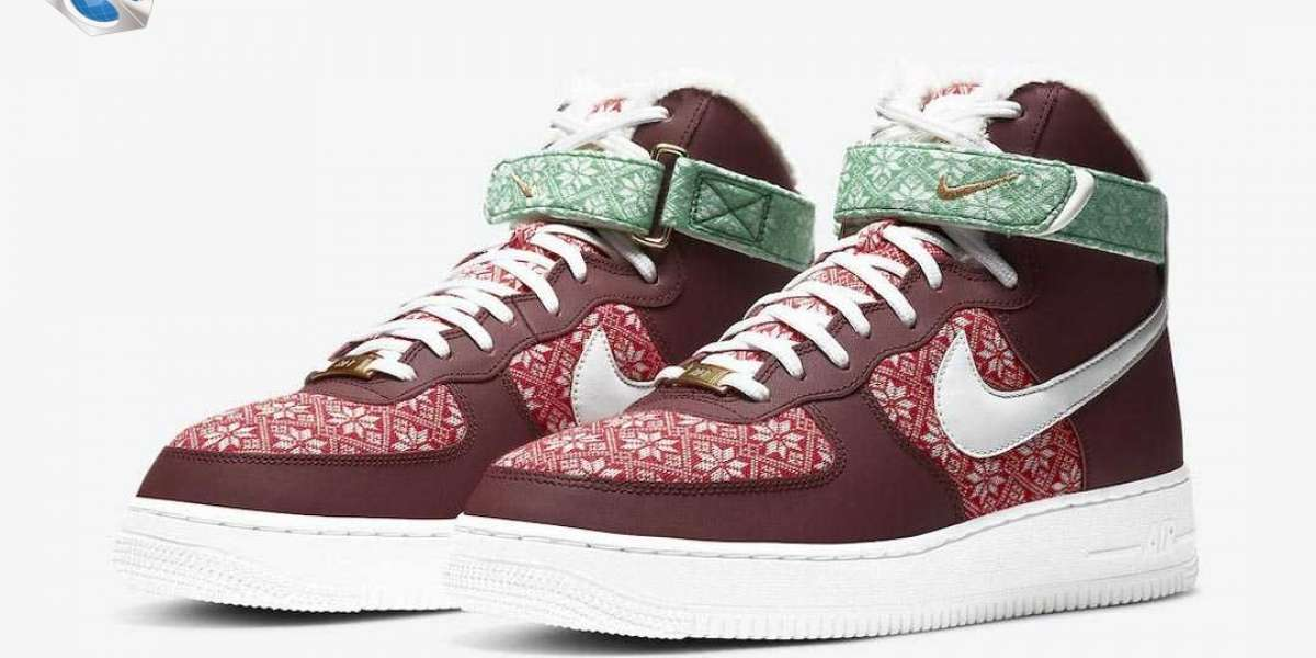 """Nike Air Force 1 High """"Christmas"""" DC1620-600 Released On December 7"""