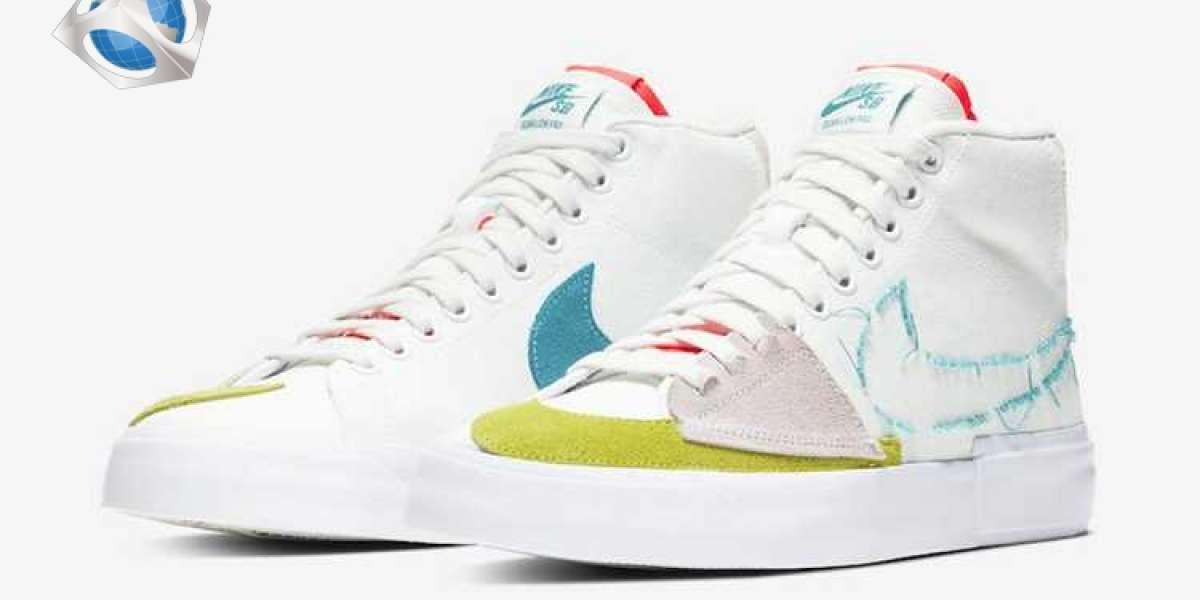 Nike SB Blazer Mid Edge Hack Pack Aqua 2021 Newest CI3833-101