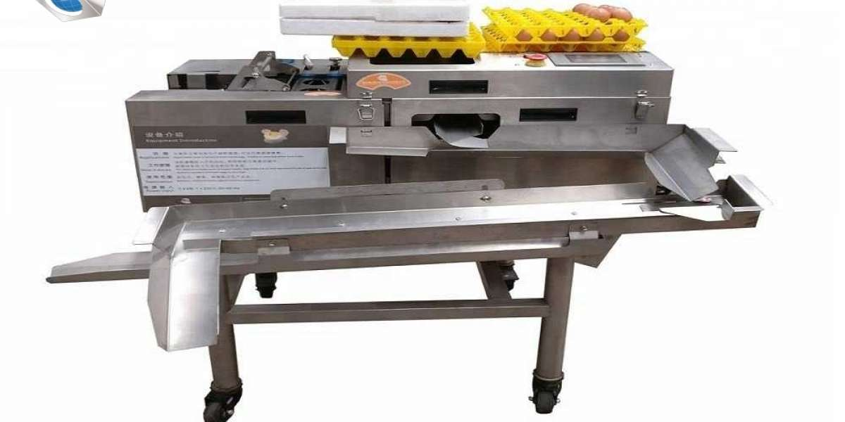 Automated machine for breaking and separating eggs
