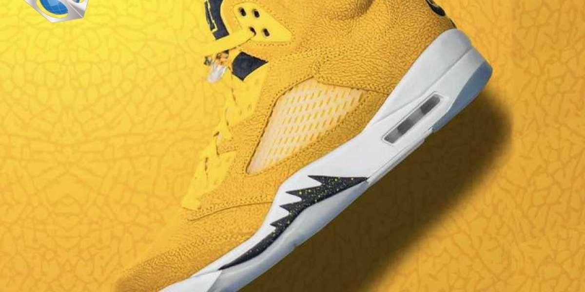 "Latest Air Jordan 5 SP ""Michigan"" Basketball Shoes CQ9541-704"