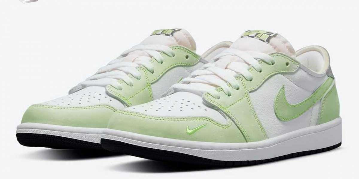 "Official image of Air Jordan 1 Low OG ""Ghost Green"" CZ0790-103"