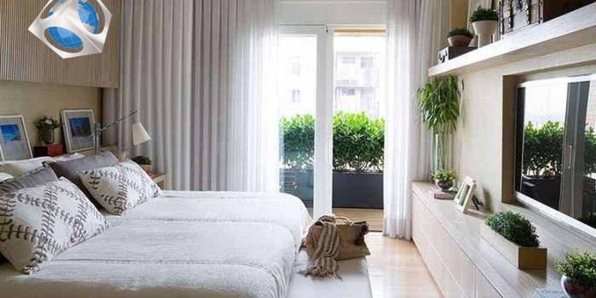 Arranging a narrow bedroom to make it look spacious